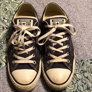 Navy blue converse all star men's size 8 shoes